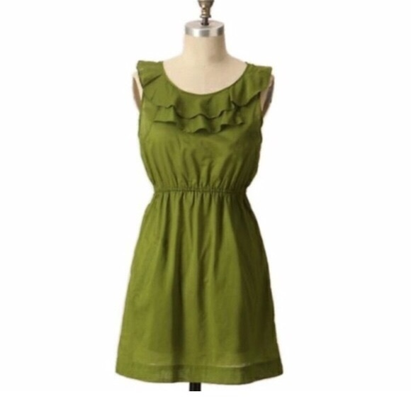 7ba9d76c599b Anthropologie Dresses | Edme Esyllte Olive Army Green Dress 4 | Poshmark